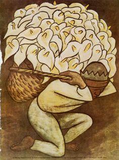 Diego Rivera, Vendedor De Alcatraces