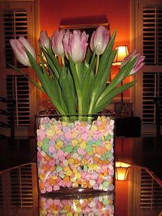 DIY Valentine's Centerpiece <3 <3 <3