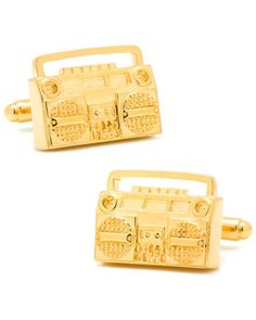 Golden+Retro+Boombox+Cuff+Links+by+Cufflinks+Inc.+at+Neiman+Marcus.