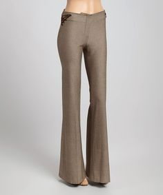 Look what I found on #zulily! Beige & Brown Cord-Accent Pants by FABRIZIO GIANNI #zulilyfinds