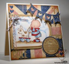 Loopy Lou's Loopy Thoughts!: A special little man's first birthday card!