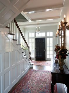 Like the paneling under the stairs, similar layout to our house