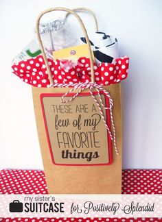 "IDEAS FOR SETTING UP A ""FAVORITE THINGS"" PARTY AND GIFT IDEAS"