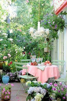 #garden tea time...