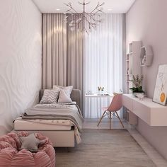 small bedroom design , small bedroom design ideas , minimalist bedroom design for small rooms , how to design a small bedroom Small Room Bedroom, Bedroom Ideas For Small Rooms For Girls, Master Bedroom, Dream Bedroom, Small Bedroom Inspiration, Design For Small Bedroom, Tiny Girls Bedroom, Small Bedroom Interior, Diy Bedroom