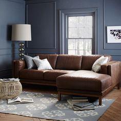 West elm. Liker godt farge kombinasjonen, men ikke lett å finne Cognac farget sofa i dette landet 🙄