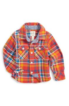 Free shipping and returns on Peek 'Durango' Plaid Woven Shirt (Baby Boys) at Nordstrom.com. Bright plaid adds to the homespun charm of a cotton-woven shirt that provides a snazzy finish for his everyday style.