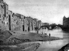 """Com'era prima dei muraglioni ottocenteschi con la spiaggetta della """"renella"""""""