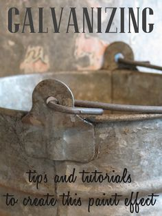 link to some tutorials on how to create a galvanized metal texture - using craft paint