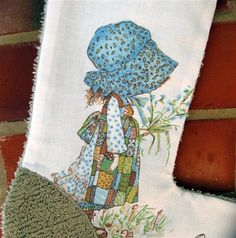 Repurposed Holly Hobbie Vintage Chenille Christmas by leahkl, $20.00