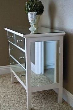 Add mirrors on all sides | 99 Clever Ways To Transform A Boring Dresser