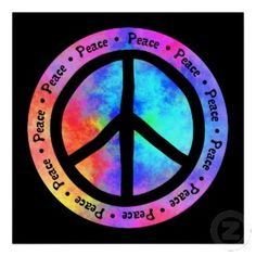 60S+Music+Posters | multicolor peace sign poster by yarddawg view other peace posters