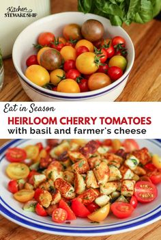Quick, delicious cherry tomato recipe. Plus how to make homemade farmer's cheese using a few simple ingredients you already have on hand!