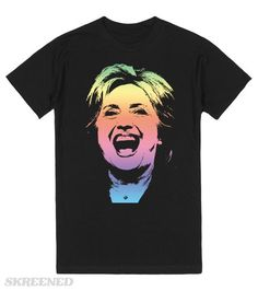 Rainbow Pride for Hillary Clinton Shirt - Gay and/or like rainbows? Support Hillary? This is the shirt for you. #hillaryclinton