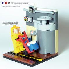 LEGO MOC - Breaking Bad - Jesse Pinkman is working in super lab