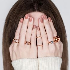 #migliostyle #Rose #Allure stacked #rings - www.miglio.com Jewelry Design, Designer Jewellery, Wild Hearts, Jewelry Collection, Gold Rings, Silver Jewelry, Handmade Jewelry, Feminine, Rose Gold