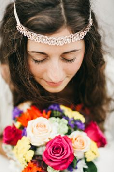Shades of pink, purple, and blue paired with vintage elements and an eclectic, boho style make for one very unique wedding design.