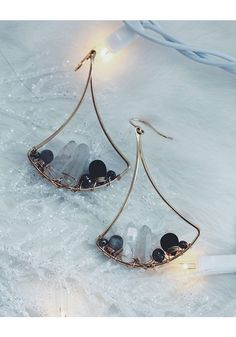 • STORMY GEM VOGUE EARRINGS - $100 • Check out all our holiday favorites in the 2016 Nashelle Gift Guide! • [one plate of food donated for every piece of jewelry sold] •