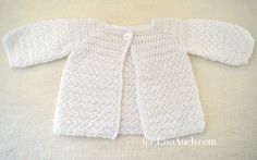 Crochet Cardigan Crochet Baby Cardigan Easy Free Pattern - A Free Crochet Pattern for a Long Sleever Baby Cardigan. This is the Free Version of The Long Sleeved Baby Crochet cardigan . Cardigan i. Crochet Baby Cardigan Free Pattern, Crochet Baby Jacket, Crochet Baby Sweaters, Baby Sweater Patterns, Crochet Cardigan Pattern, Crochet Baby Clothes, Crochet Patterns, Baby Patterns, Baby Boy Cardigan