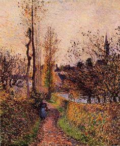 The path of Basincourt - Camille Pissarro