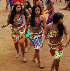 The total population of the comarca according to the census of 1990 was 14,659 Embera and 2,605 Waounan people. This total for the Comarca comprised 37% of the total for the country. The rest of the Embera and Waounan live outside the comarca as far away as Panama city.