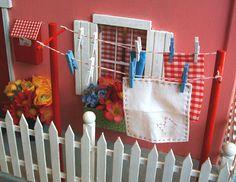 clothesline and fence........fairy garden?