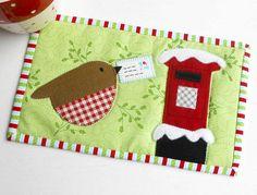 Christmas Delivery Mug Rug | My 2015 Christmas mug rug patte… | Flickr