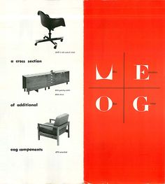 Vintage product literature by Herman Miller, featuring a 1st iteration Eames DAT.  This is another rich area for collecting, vintage product literature.