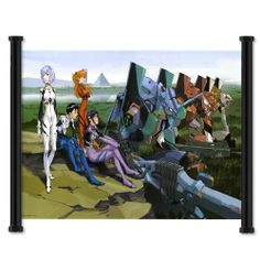 """Neon Genesis Evangelion Anime Fabric Wall Scroll Poster (25""""x16"""") Inches"""
