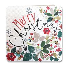 Contemporary Handmade Christmas Card by Laura Darrington Design