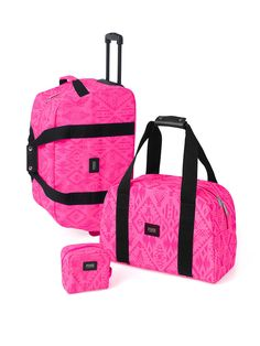 Cute Backpacks, Planners & College Accessories at PINK Pink Luggage, Cute Luggage, Luggage Sets, Travel Luggage, Pink Suitcase, Victoria Secrets, Victoria Secret Rosa, Pink Love, Vs Pink
