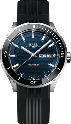 From Baselworld 2015: @ballwatchco BMW TimeTrekker with rubberized leather strap and blue dial. #ballwatches #watchtime #baselworld2015