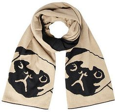 A scarf for pug lovers!