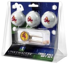 Arizona State Sun Devils-Cap Tool 3 Ball Gift Pack