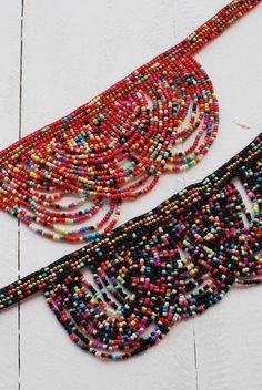 Woven Bracelets, Handmade Bracelets, Beaded Jewelry, Beaded Necklace, Fabric Earrings, Summer Necklace, Bead Art, Bead Weaving, Beading Patterns