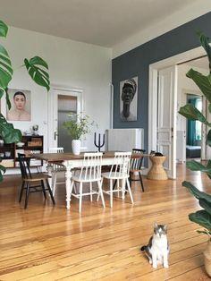 DurchBlick ● #couchstyle #altbau #greens #diningroom #cat