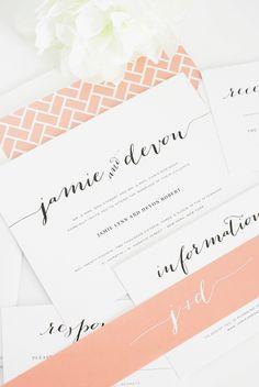 Flowing Script Wedding Invitations by Shine Wedding Invitations