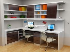 Leading 10 Stunning Home Office Layout Home Office Layouts, Home Office Organization, Home Office Space, Home Office Desks, Office Interior Design, Office Interiors, Home Interior, Study Table Designs, Home Office Accessories
