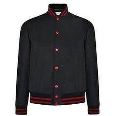 SAINT LAURENT Teddy Varsity Bomber Jacket