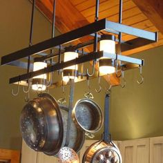Barnwood Pot Rack Holder Kitchens Pinterest Pot Rack Kitchens - Kitchen pot rack light fixtures