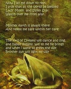 Pagan bedtime prayer for kids Wiccan Spells, Magic Spells, Magick, Green Witchcraft, Wiccan Quotes, Easy Spells, Luck Spells, Wiccan Symbols, Dragons