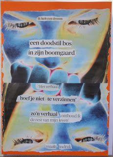 'Een doodstil bos in zijn boomgaard' door Loes Vork.  Gevonden Gedichten wachten op jou in bijvoorbeeld tijdschriftartikelen, krantenkoppen of boekpagina's. Tot jij ze ontdekt!