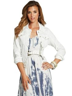 GUESS Brittney Destroyed Denim Jacket True White $79 AUTHENTIC- SHIPS FREE ♥ BUY HERE: http://www.beachhippieinc.net/guess-brittney-destroyed-denim-jacket-true-white/ ♥ INCLUDES NORTON SHOPPING PROTECTION & LOWEST PRICE GUARANTEE!