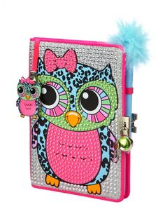 Bling Owl Diary With Feather Pen, Lock & Key | Girls Journals & Writing Room, Tech & Toys | Shop Justice