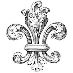 For our crest: Fleur de lis! Tattoo Fleur, 1 Tattoo, Vintage Images, French Vintage, Stencils, French Typography, Digi Stamps, Vintage Ephemera, Design Elements