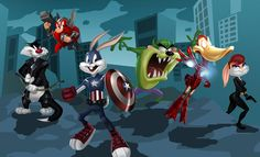 The Looney Tunes suit up as Marvel's The Avengers!