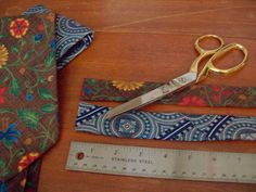 Headband from tie: Cut 20-22 inches from skinny end of tie by Sword in the Stove, via Flickr