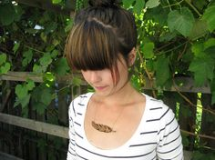 Cute wood necklace