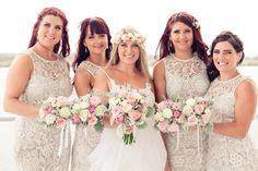 Romantic lace Lyssy bridesmaid dresses