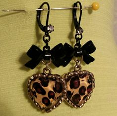 Betsey Johnson Heart Bow earrings Super cute earrings! Betsey Johnson Jewelry Earrings